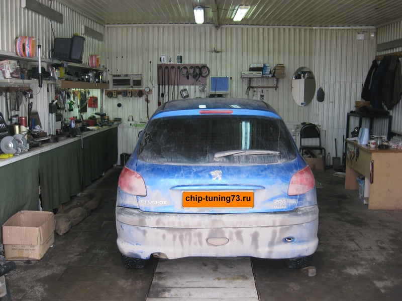 Чип-тюнинг Peugeot 206